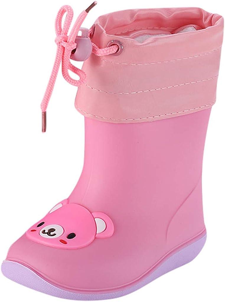 XXYsm Bottes de Pluie,Enfant Dessin Anim/é Chaussures de Pluie en PVC de Chaussures de Pluie Souples et Durables Imperm/éable Antid/érapant pour Gar/çons et Filles