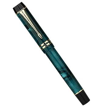 Moonman M600S pluma estilográfica, celulioide azul océano ...