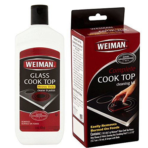 uty Glass Cleaner and Polish with Complete Cook Top Cleaning Kit (Glass Top Kit)