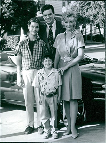 Vintage photo of Chris McDonalds, Janine Turner, Erik Von Detten and Cameron Finley posing together during the television show,