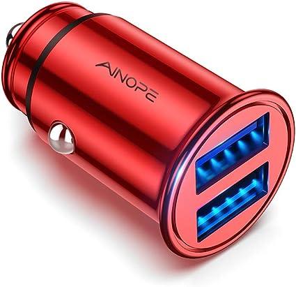 Amazon.com: Mini cargador de coche, Rojo: AUTO-TECH