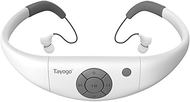 Tayogo Lecteur MP3 Etanche Natation Ecouteurs Etanche