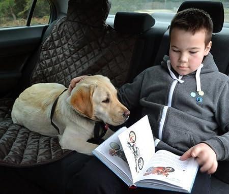 noir couverture de chien tierlando/® couvercle de si/ège de voiture 200 x 140 cm voiture couverture divisible avec fermeture /éclair capot de protection de voiture SMR-200-03
