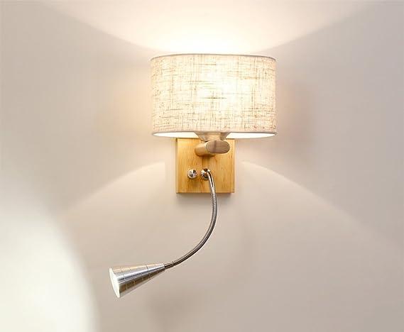 Mkj lampade da parete lampada da parete originale di legno solido