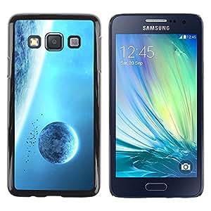 Paccase / Dura PC Caso Funda Carcasa de Protección para - Blue Planets Giant Space Sky Universe Alien - Samsung Galaxy A3 SM-A300