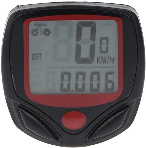 Ogquaton Bicicleta Veloc/ímetro Impermeable Bicicleta inal/ámbrica Computadora y cicl/ómetro Od/ómetro Pantalla LCD multifunci/ón retroiluminaci/ón