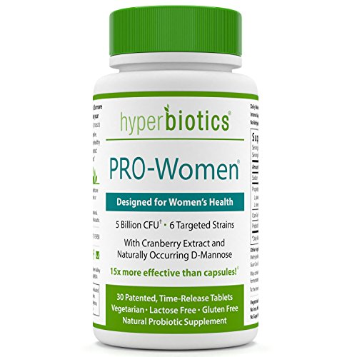 Capsules Probiotic 30 Advanced Adults - PRO-Women: Probiotics for Women with Cranberry Extract & D-Mannose - 15x More Effective than Probiotic Capsules with Patented Delivery - 30 Once Daily Time Release Tablets - Supports Urinary Health
