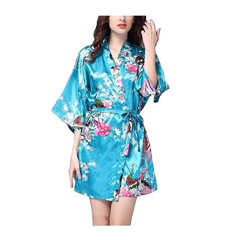 DRAGON SONIC E04 - Pijama de Seda Estilo japonés para Mujer ...