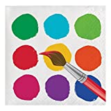Creative Converting 317266 Paper Beverage Napkins, Art Party (Value Pack: 48 Count)