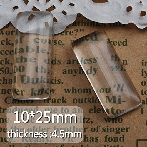 10x25mm Flatback Clear Glass Cabochon-4.5mm thickness-50pcs/lot