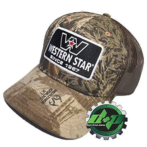 Diesel Power Plus Western Star Realtree Camo hat Truck Cap Embroidered Logo Patch Brown Meshback