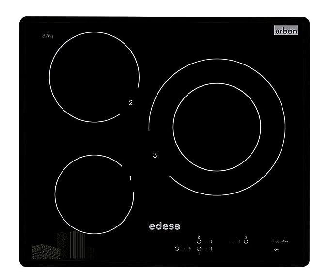 Edesa URBAN-I33S - Placa (indución eléctrica, Negro, 2000W, Sensor, Frente, 1m)