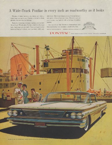 Every inch as roadworthy as it looks Pontiac Bonneville 4-door HT ad 1960 P