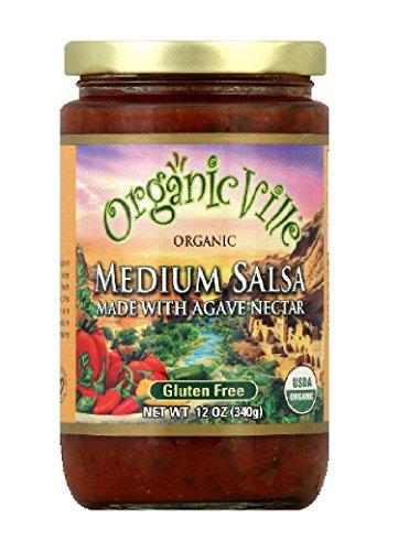 OrganicVille Organic Salsa, Medium Agave Nectar, 12-Ounce (Pack of 6)