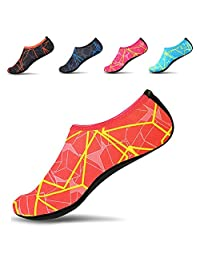 JACKSHIBO Men Women Quick-Dry Water Skin Shoes Aqua Socks for Water Sports Swim Surf Yoga Exercice Beach