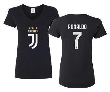 reputable site b84e1 2608c SMARTZONE Soccer Ladies Shirt Cristiano Ronaldo Women's V-Neck Tshirt