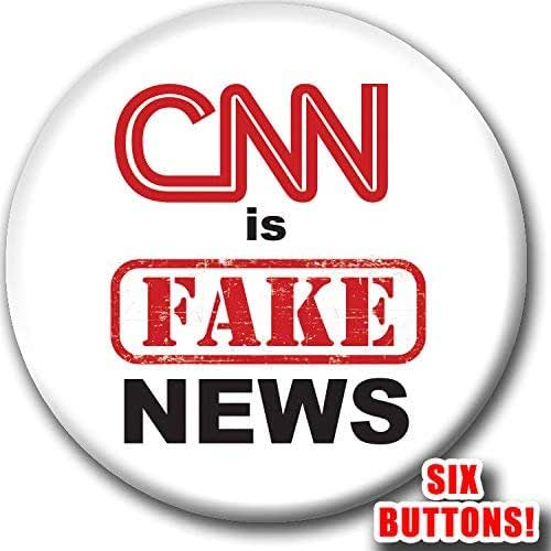 Amazon.com: CNN is Fake News 6-Button Rally Pack - No More Propaganda Badge  - Time for Truth Political Pin - Six Buttons: Handmade