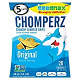 SEASNAX, Chomperz Seaweed Chip, Original, Pack of 8, Size 1.4 OZ, (GMO Free Vegan)