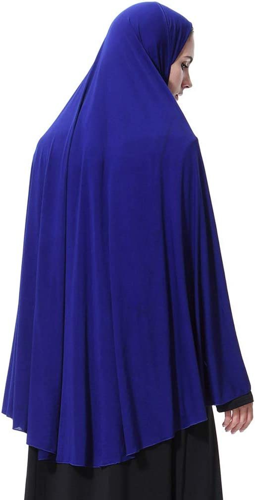 YOUSIKE Womens Extra Long Muslim Arab Hijab Prayer Head Scarf Islamic Wrap Shawl