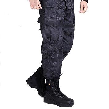 osdream exterior negro Python patrón táctico traje/ropa/Pantalones ...