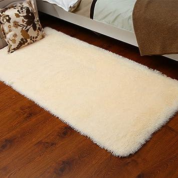 Kooco 40 * 60 Cm Solide Pink Rot Farbe Teppich Schlafzimmer Dekorieren  Weich Boden Teppich Warm