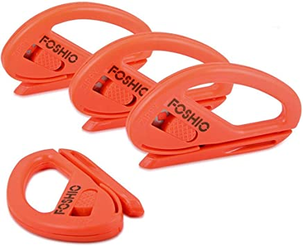 FOSHIO Snitty Safety Cutter vinilo gráfico Car Wrap Cutting Tool Aplicación Zippy estilo cuchillo para el papel, fibra de carbono película de vinilo y otros coches Styling Foil, Pack de 4 PCS: