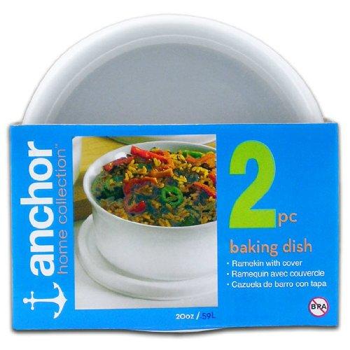 DARNA 95890C-Ceramica Mini Redondo con Tapa de plastico, Color, Compuesto, Blanco, 22 cm: Amazon.es: Hogar