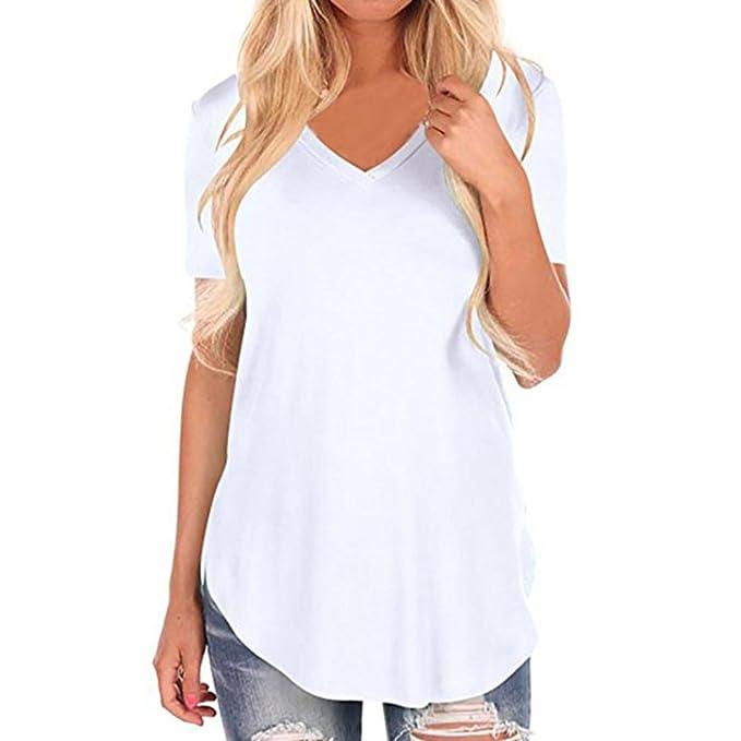 Camisetas Flores Mujer ❤️Xinantime Camisetas Mujer Manga Corta Camisetas Algodon Mujer Camisetas Mujer Manga Corta