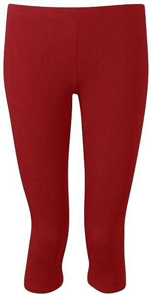 e2944f52386e3 New Womens Ladies Plus Size Short 3/4 Plain Viscose Cropped Leggings 12-30:  Amazon.ca: Clothing & Accessories