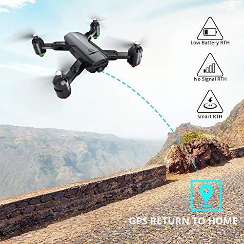 Dragon Touch Drone Plegable GPS con Cámara 1080P HD Avión con WiFi FPV Control Remoto Modo sin Cabeza RC Quadcopter Drone para Niños Principiantes Adultos