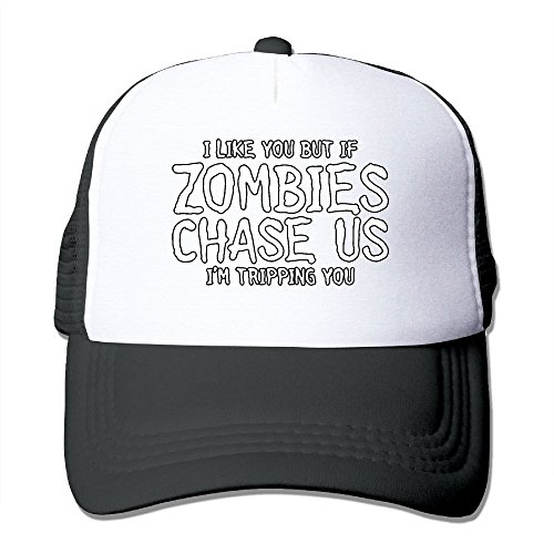If Zombies Chase Us, I'm Tripping You Adult Trucker Mash Headgear]()