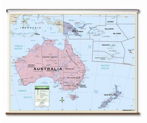 Australia Primary Classroom Wall Map on Roller
