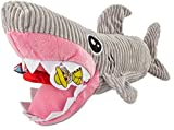 Leaps & Bounds Plush Puzzle Foraging Plush Shark Dog Toy, X-Large For Sale