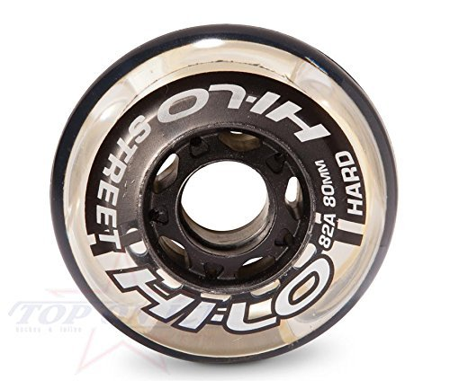 Mission Hockey Hi-Lo Street 82A 4Pk Inline Wheels Clear (Mission Roller Hockey Skates)
