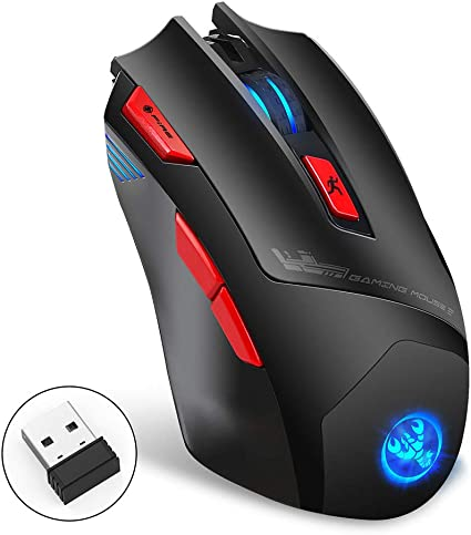 Color : Gray Gaming Mouse Ergonomic Mouse USB Wireless Mouse 2.4GHz Wireless Optical Mouse Game Wireless Mouse Ergonomics