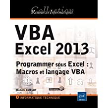 VBA Excel 2013 - Programmation sous excel