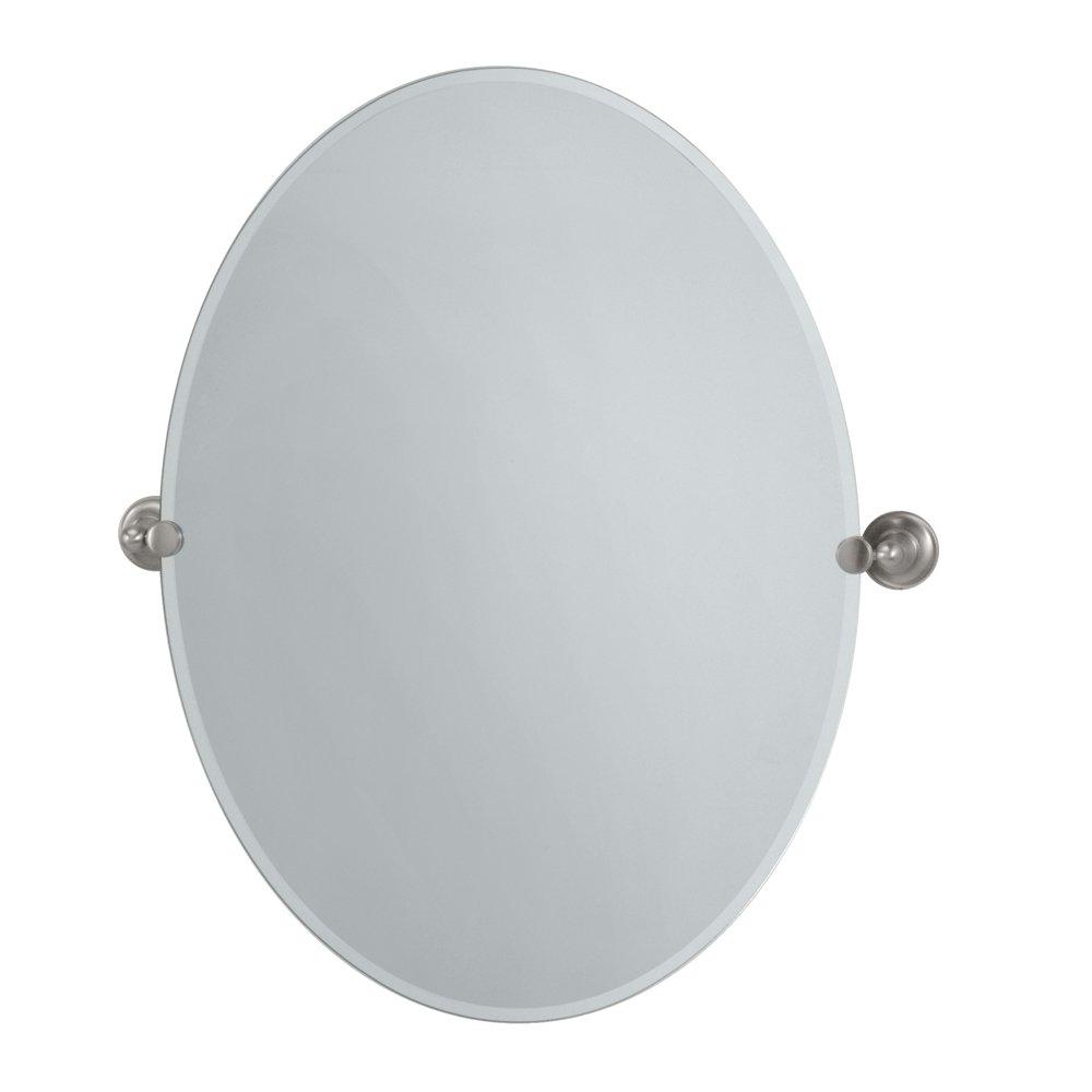 Gatco 4349LG Tiara Large Oval Wall Mirror Bronze