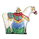Old World Christmas Glass Blown Ornament with S-Hook and Gift Box, Animal Collection (Arabian Horse)