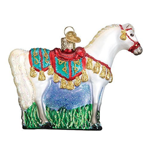 Old World Christmas Glass Blown Ornament with S-Hook and Gift Box, Animal Collection (Arabian Horse) by Old World Christmas