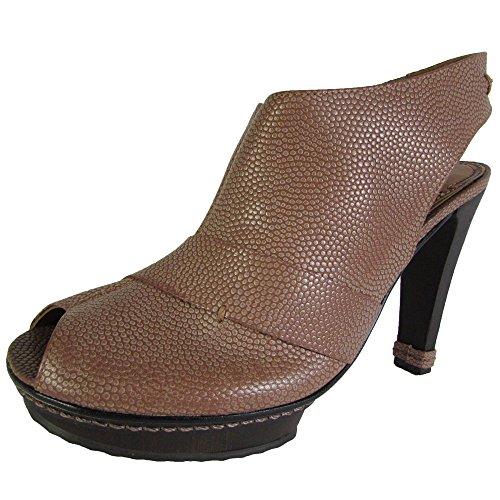 Max Azria BCBG Womens Echo Pebble Grain Peep Toe Platform Pump Shoe,Clay,US 6.5 (Platforms Bcbg)
