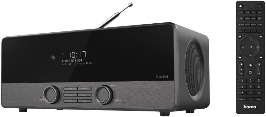 Hama Internetradio Digitalradio Dir3120 Wlan Lan Dab Dab Fm Oled Display 2 4 Zoll 20 Watt Mit Fernbedienung Weck Und Wifi Streamingfunktion Gratis App Schwarz Heimkino Tv Video