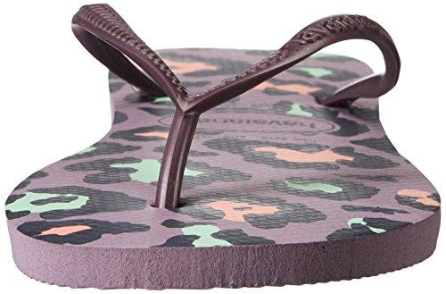 Havaianas Damen Slim Animals Sandale Flip Flop, Beige / Koralle Neu, 35 BR / 6 W US Petunie