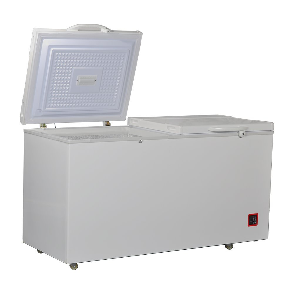 Smad Free-standing Chest Freezer Dual Door Freezer with Refrigeration,Removable Feet,12.8 cu.ft.