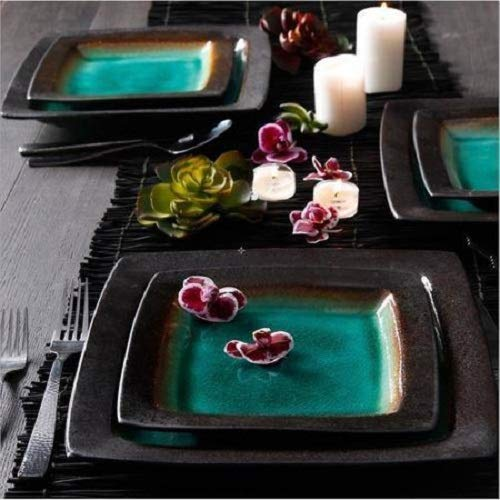 Ocean Oasis 16-Piece Dinnerware Set, Turquoise ()