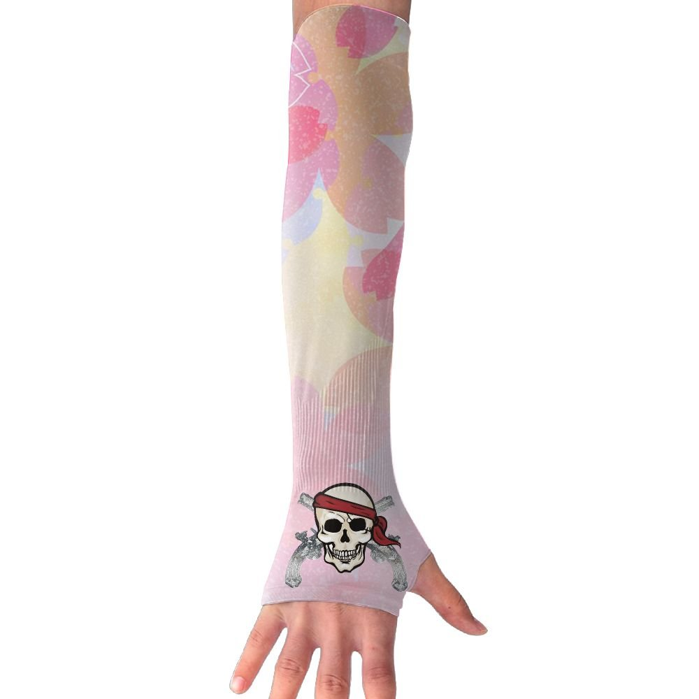 Pirate Pistols Unisex Protection Hand Cover Arm Sleeves Cool Cover Sun For Outdoor Activities 1 Pair