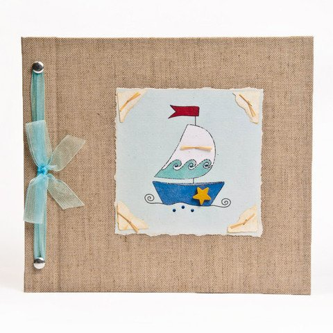 Hugs and Kisses XO Baby Memory Book: SAILBOAT Boy Baby Album from Birth to 5 Years