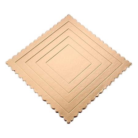 Waroomss 10pcs Montaje para Tartas, Base de Tartas, cartón Dorado ...
