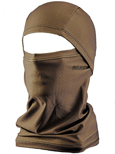 Fishmasks Convertible Balaclava - Lightweight Face Mask Protects From Sun, Wind and Moisture While Fishing - Moisture-Wicking UPF 50+ Made In The USA - Brown