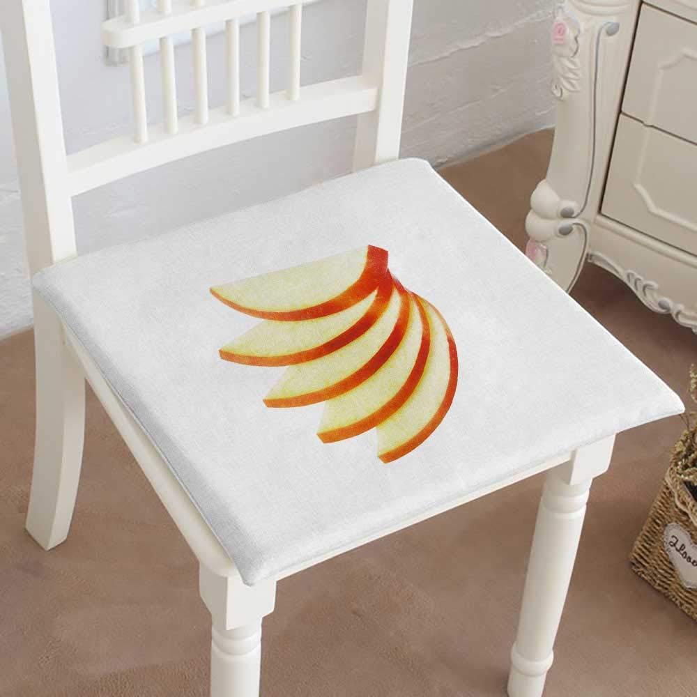 Mikihome クラシック装飾チェアパッド シートスライスパイナップル ホワイトクッションに分離 メモリー充填 14インチx14インチx2個 18