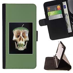 Momo Phone Case / Flip Funda de Cuero Case Cover - Corazón de manzana cráneo doctor Away Vida - LG G4c Curve H522Y (G4 MINI), NOT FOR LG G4